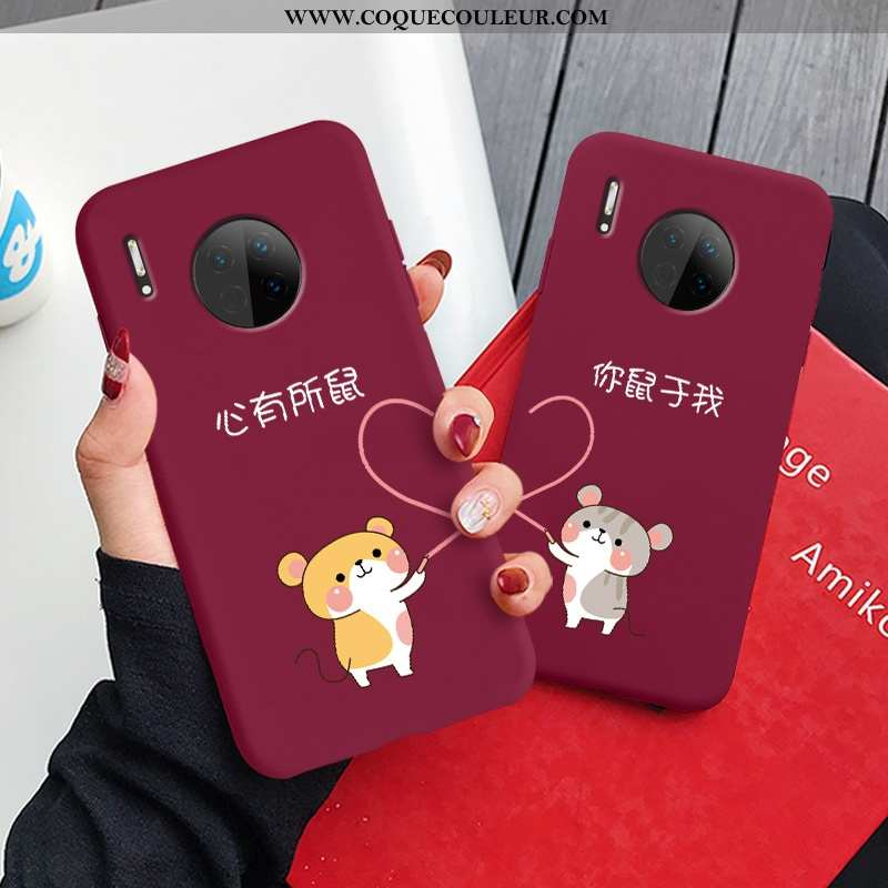 Étui Huawei Mate 30 Silicone Dessin Animé Amour, Coque Huawei Mate 30 Protection Téléphone Portable