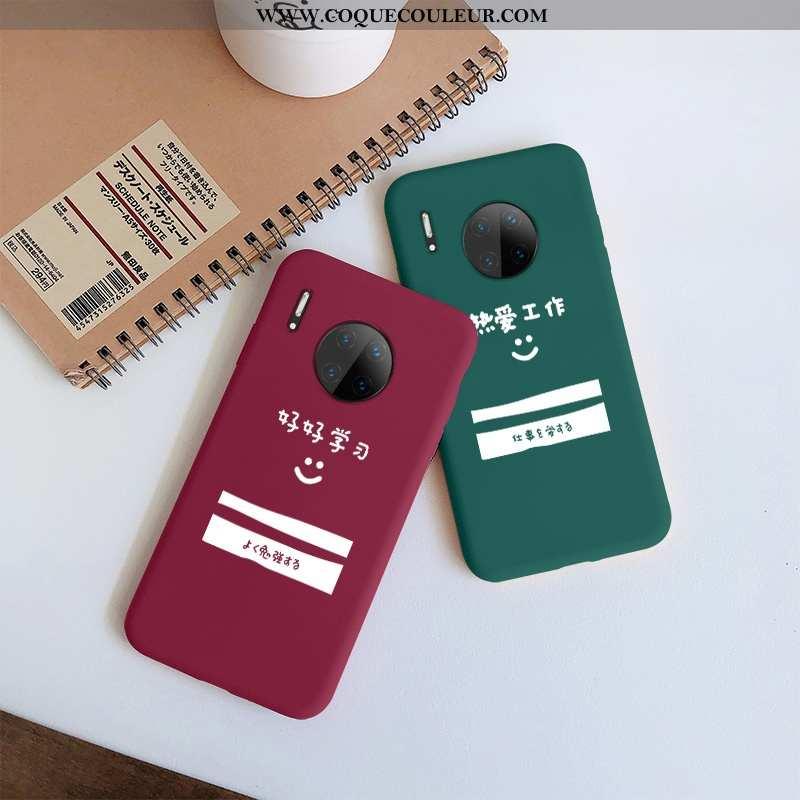 Housse Huawei Mate 30 Protection Net Rouge Incassable, Étui Huawei Mate 30 Silicone Téléphone Portab
