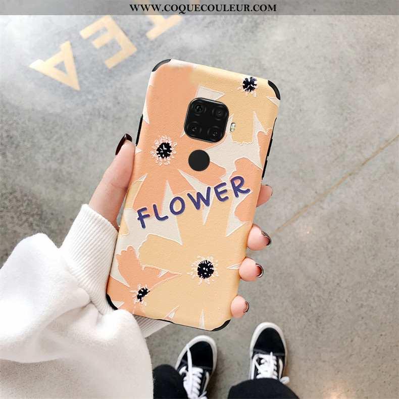 Housse Huawei Mate 30 Lite Mode Incassable Étui, Étui Huawei Mate 30 Lite Créatif Net Rouge Jaune