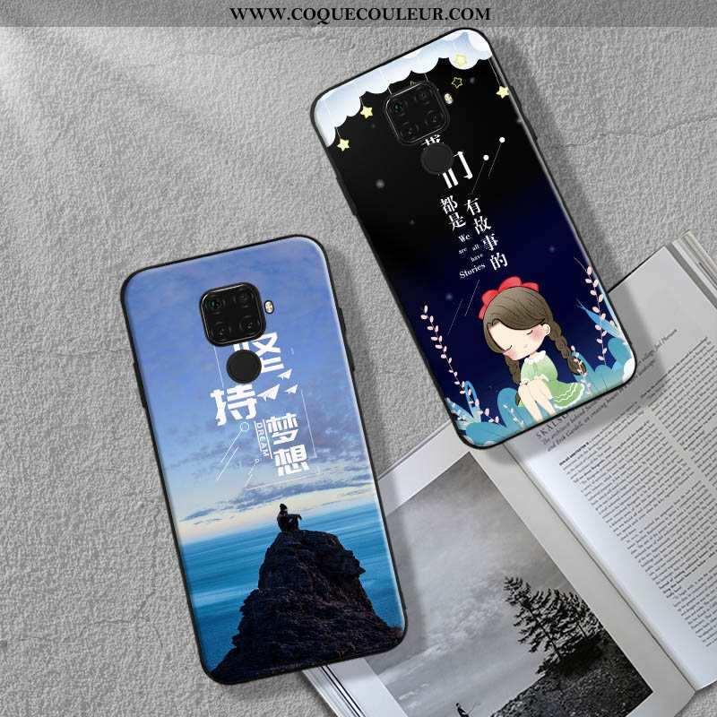 Étui Huawei Mate 30 Lite Mode Bleu Coque, Coque Huawei Mate 30 Lite Ornements Suspendus Tout Compris