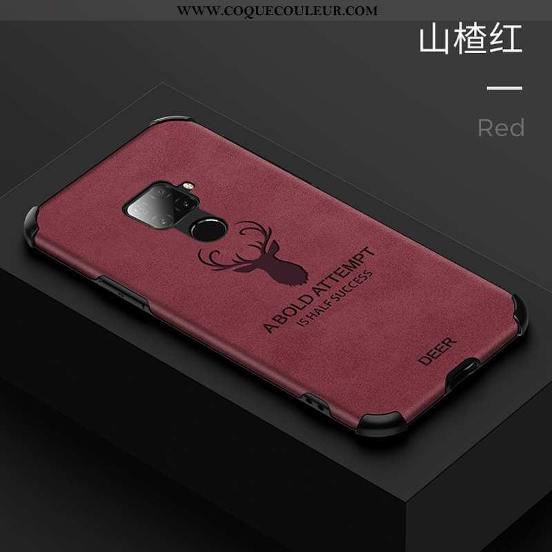 Housse Huawei Mate 30 Lite Ultra Coque Incassable, Étui Huawei Mate 30 Lite Tendance Rouge