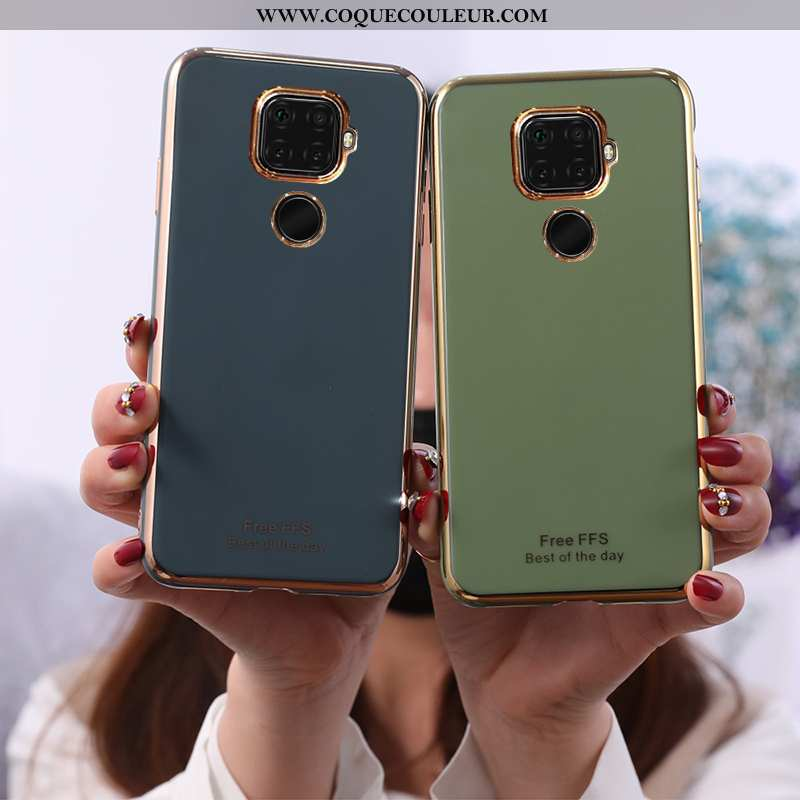Étui Huawei Mate 30 Lite Protection Vert, Coque Huawei Mate 30 Lite Téléphone Portable Membrane Vert