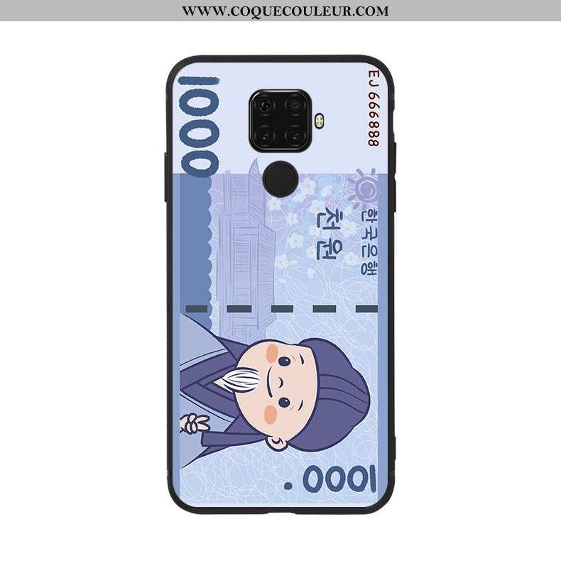 Coque Huawei Mate 30 Lite Personnalité Bleu Téléphone Portable, Housse Huawei Mate 30 Lite Charmant