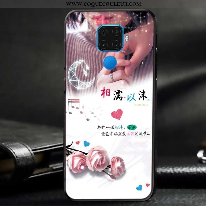 Coque Huawei Mate 30 Lite Délavé En Daim Fluide Doux Téléphone Portable, Housse Huawei Mate 30 Lite