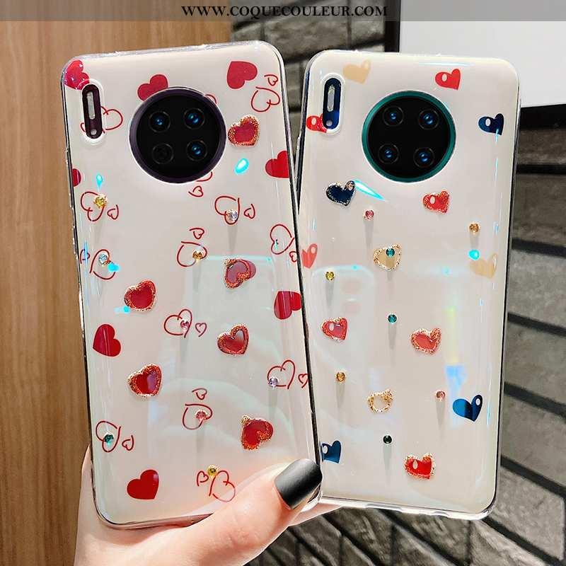 Étui Huawei Mate 30 Pro Protection Fluide Doux Coque, Coque Huawei Mate 30 Pro Tendance Vent Blanche