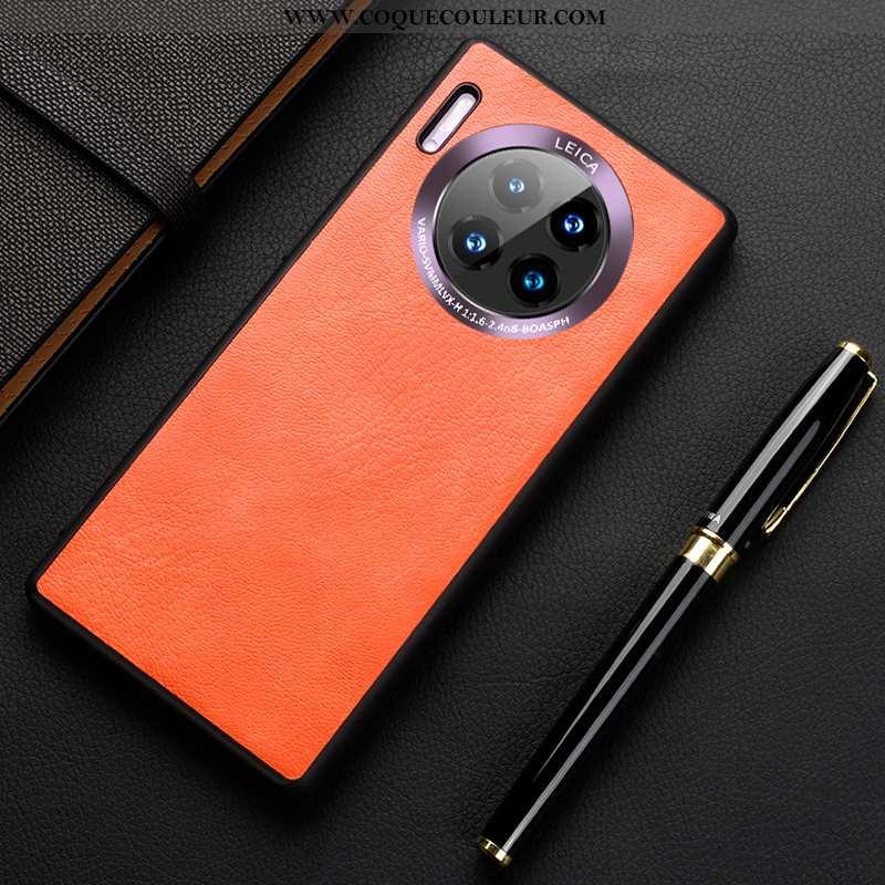 Étui Huawei Mate 30 Pro Silicone Incassable Cuir, Coque Huawei Mate 30 Pro Protection Téléphone Port