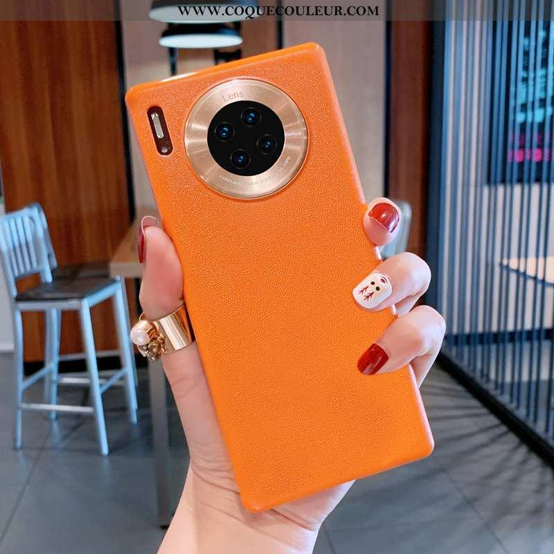 Coque Huawei Mate 30 Pro Créatif Difficile, Housse Huawei Mate 30 Pro Personnalité Couleur Orange