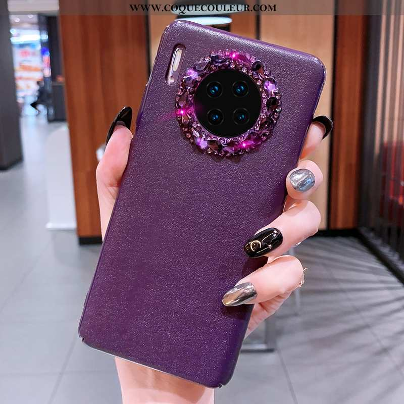 Coque Huawei Mate 30 Pro Tendance Net Rouge Coque, Housse Huawei Mate 30 Pro Cuir Violet