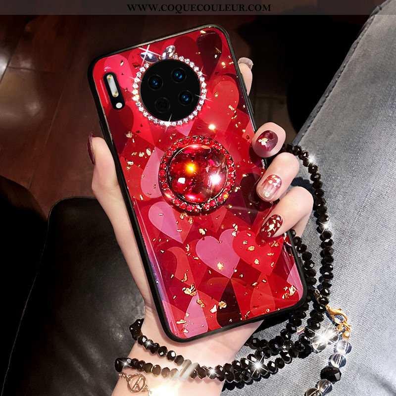 Housse Huawei Mate 30 Pro Mode Coque Net Rouge, Étui Huawei Mate 30 Pro Tendance Téléphone Portable