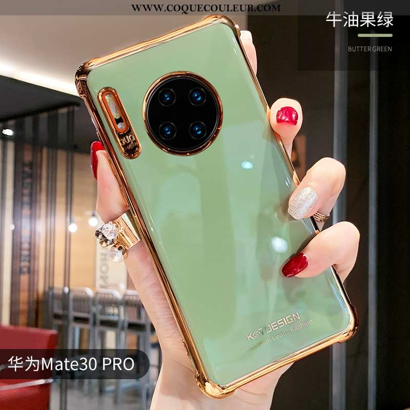 Coque Huawei Mate 30 Pro Fluide Doux Net Rouge Coque, Housse Huawei Mate 30 Pro Silicone Simple Vert