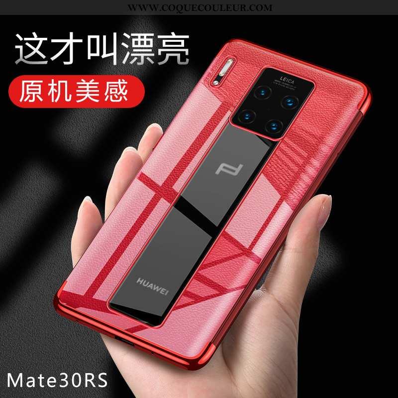 Housse Huawei Mate 30 Rs Fluide Doux Rouge Étui, Étui Huawei Mate 30 Rs Protection Coque