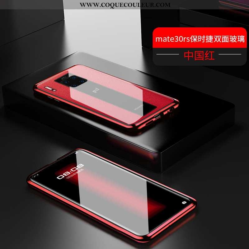 Coque Huawei Mate 30 Rs Transparent Luxe Téléphone Portable, Housse Huawei Mate 30 Rs Métal Reversib