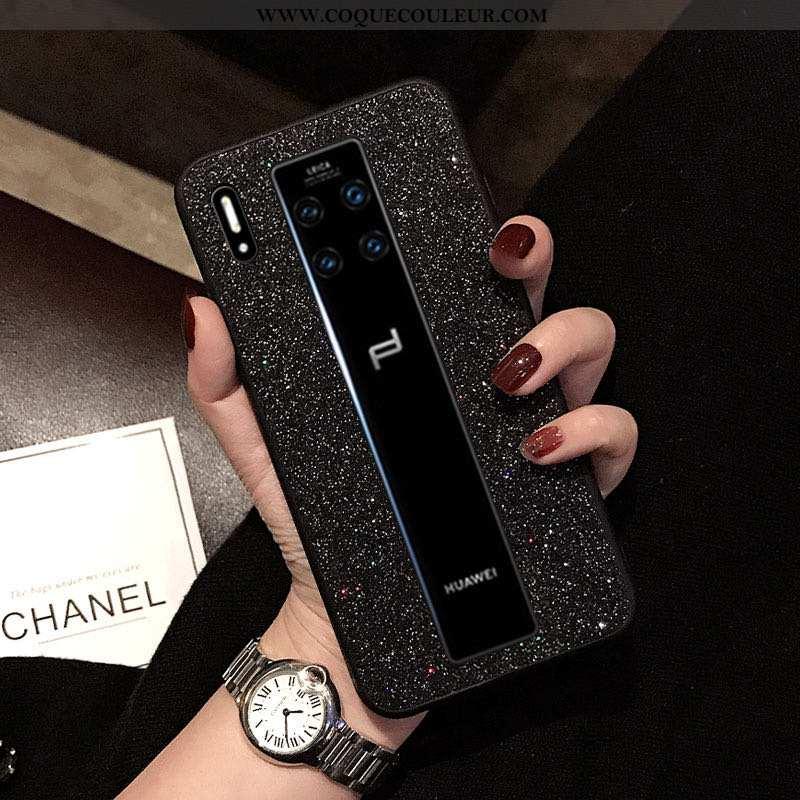 Étui Huawei Mate 30 Rs Légère Noir Téléphone Portable, Coque Huawei Mate 30 Rs Protection Net Rouge