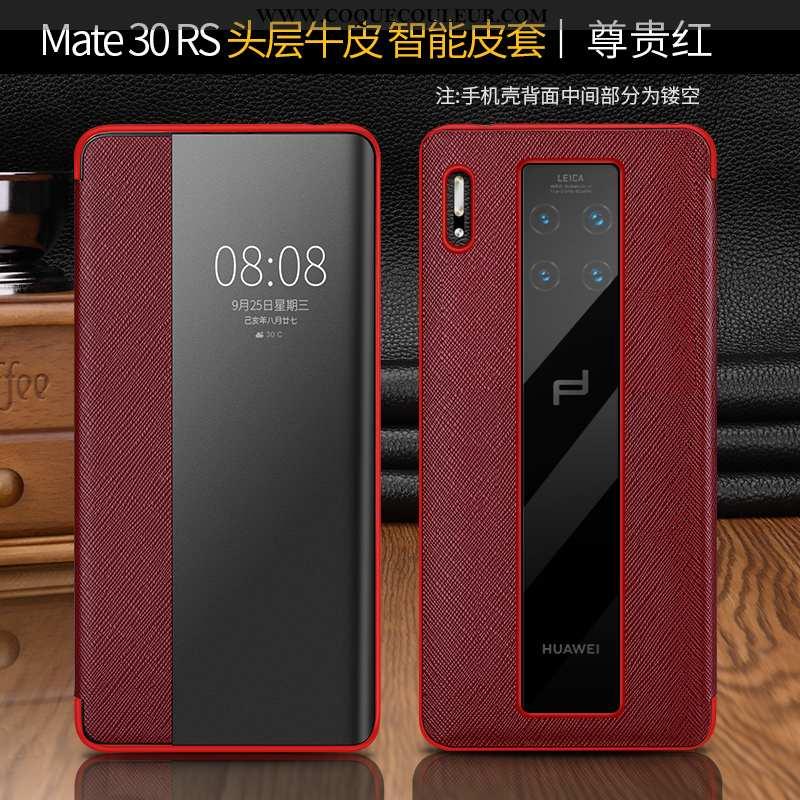 Étui Huawei Mate 30 Rs Protection Tout Compris Luxe, Coque Huawei Mate 30 Rs Cuir Véritable Téléphon
