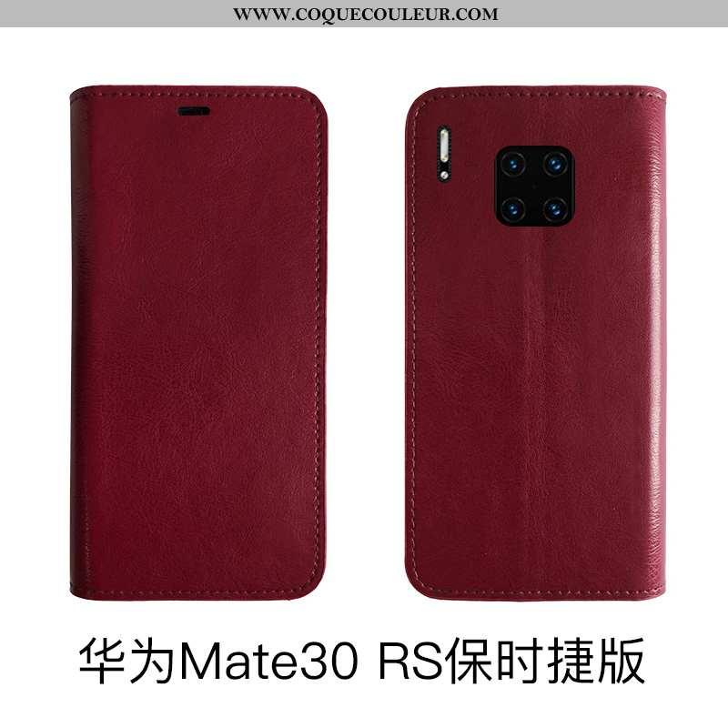 Housse Huawei Mate 30 Rs Protection Téléphone Portable, Étui Huawei Mate 30 Rs Cuir Véritable Bovins