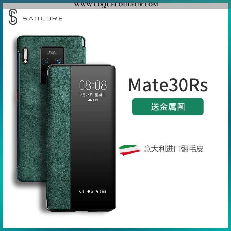 Coque Huawei Mate 30 Rs Tendance Net Rouge Coque, Housse Huawei Mate 30 Rs Daim Fourrure Protection