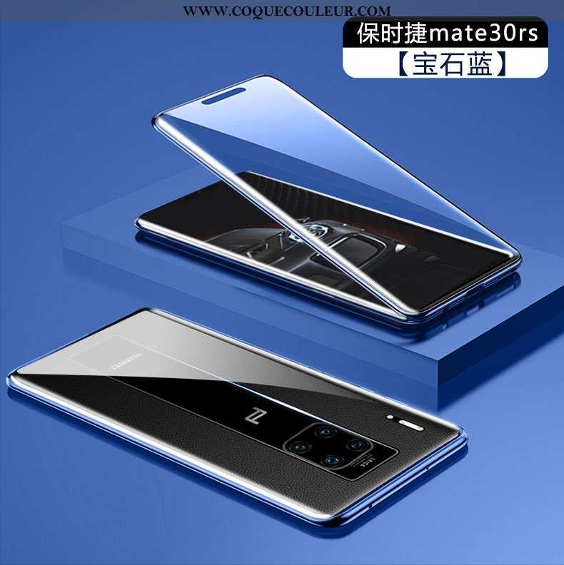 Housse Huawei Mate 30 Rs Transparent Téléphone Portable Bleu, Étui Huawei Mate 30 Rs Verre Tempérer