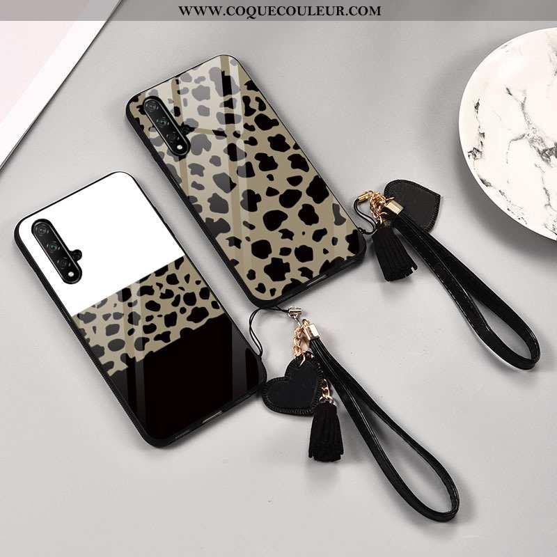 Coque Huawei Nova 5t Verre Modèle Fleurie Mode, Housse Huawei Nova 5t Tendance Téléphone Portable Bl