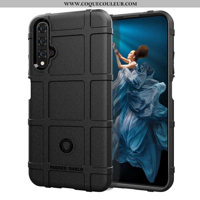 Coque Huawei Nova 5t Fluide Doux Protection Étui, Housse Huawei Nova 5t Silicone Incassable Noir