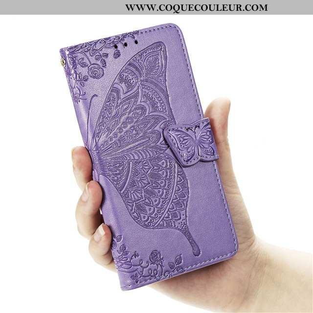 Étui Huawei Nova 5t Cuir Coque Tout Compris, Huawei Nova 5t Fluide Doux Téléphone Portable Violet