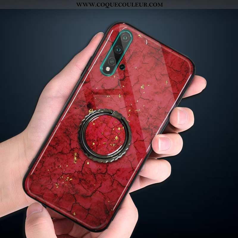 Étui Huawei Nova 5t Fluide Doux Téléphone Portable Protection, Coque Huawei Nova 5t Silicone Rouge