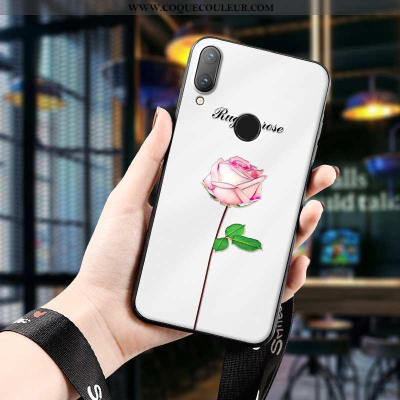 Housse Huawei P Smart 2020 Gaufrage Rouge Protection, Étui Huawei P Smart 2020 Ultra Délavé En Daim