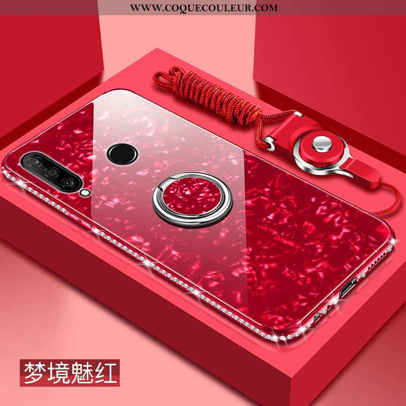 Coque Huawei P Smart+ 2020 Silicone Rouge Téléphone Portable, Housse Huawei P Smart+ 2020 Protection