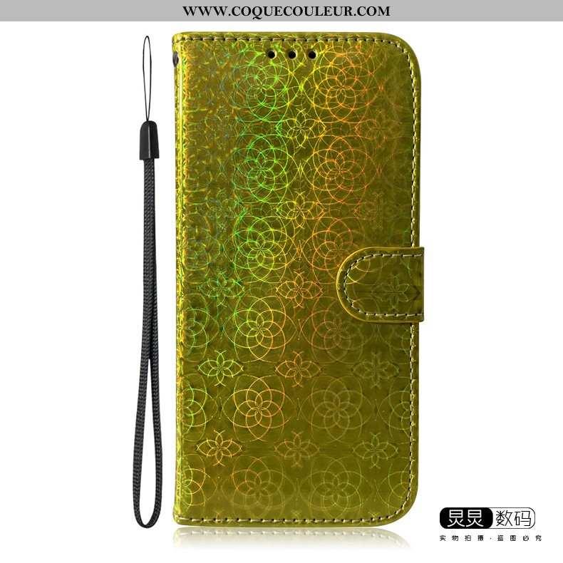 Coque Huawei P Smart 2020 Tendance Téléphone Portable Or, Housse Huawei P Smart 2020 Cuir Doré