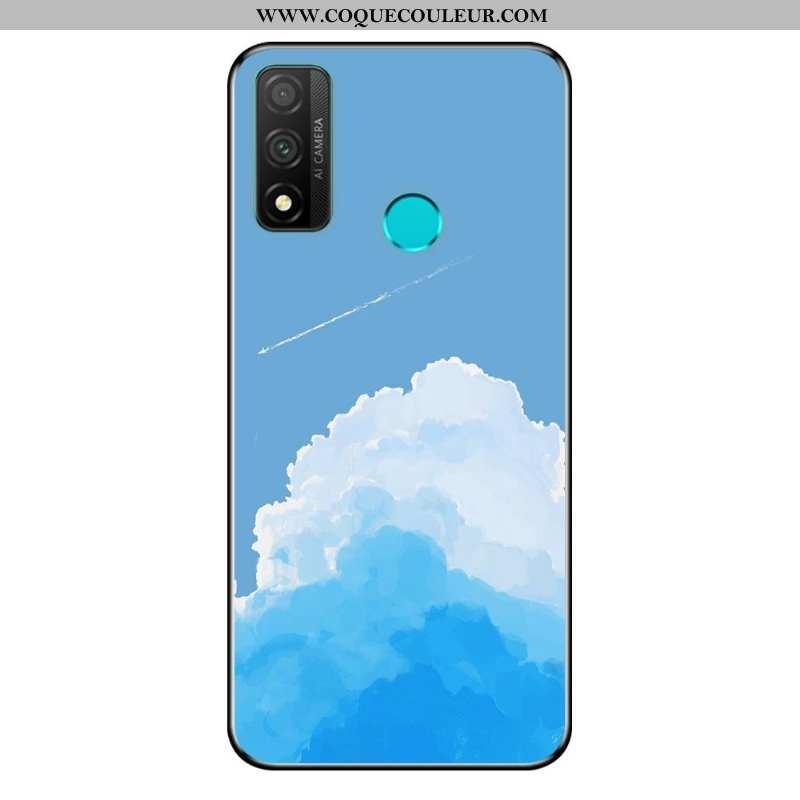 Coque Huawei P Smart 2020 Dessin Animé Délavé En Daim Coque, Housse Huawei P Smart 2020 Fluide Doux
