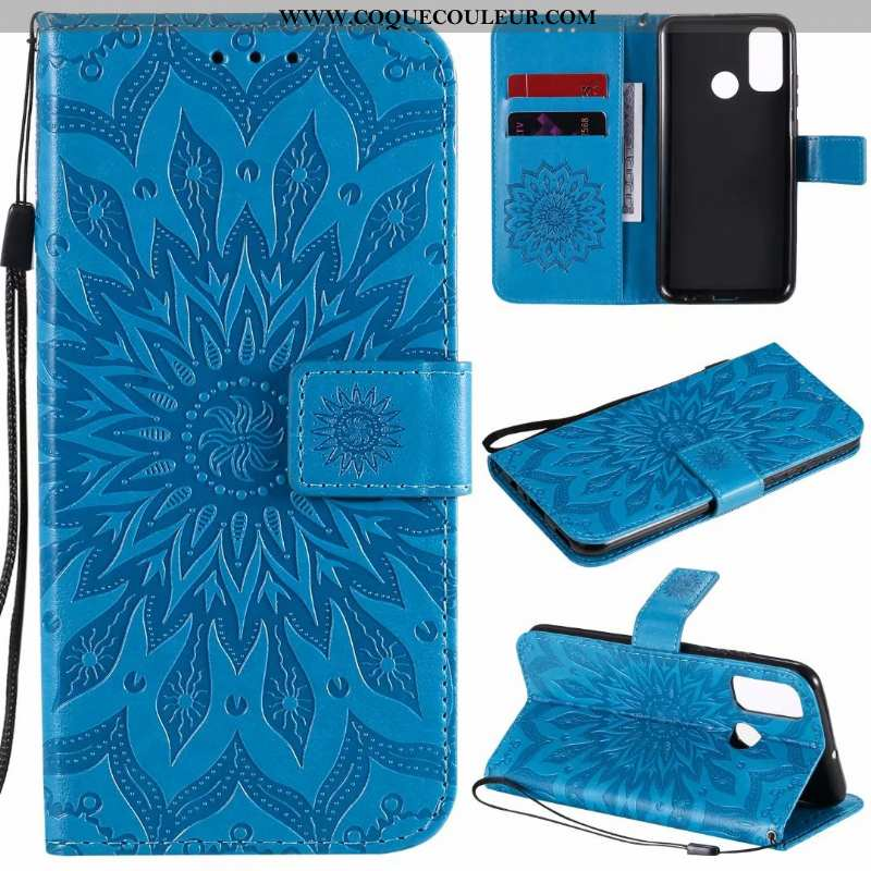 Étui Huawei P Smart 2020 Cuir Téléphone Portable Clamshell, Coque Huawei P Smart 2020 Incassable Ble