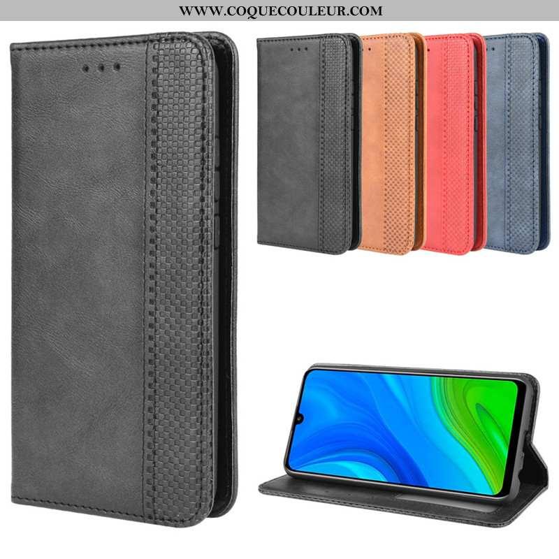 Étui Huawei P Smart 2020 Protection Coque Housse, Huawei P Smart 2020 Cuir Noir