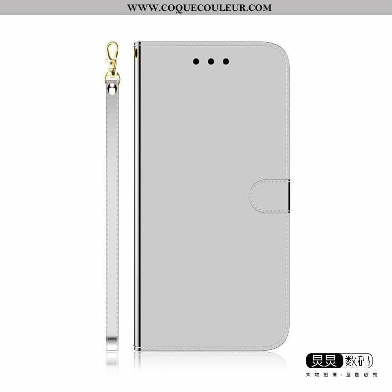 Coque Huawei P Smart 2020 Tendance Étui, Housse Huawei P Smart 2020 Cuir Protection Gris