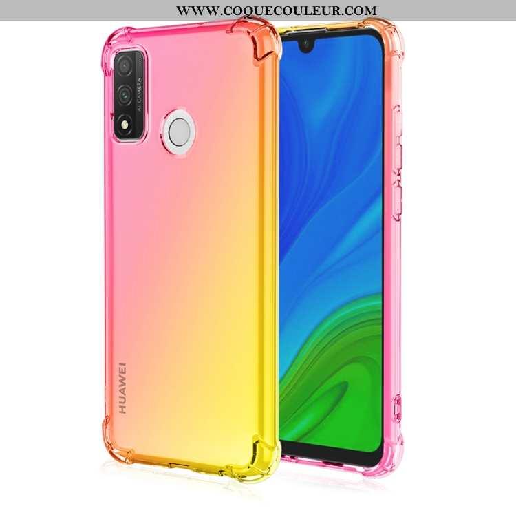 Coque Huawei P Smart 2020 Fluide Doux Jaune Téléphone Portable, Housse Huawei P Smart 2020 Incassabl