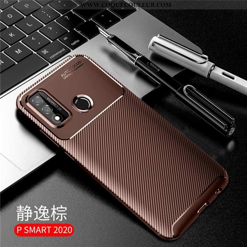Housse Huawei P Smart 2020 Protection Étui Accessoires, Huawei P Smart 2020 Silicone Marron
