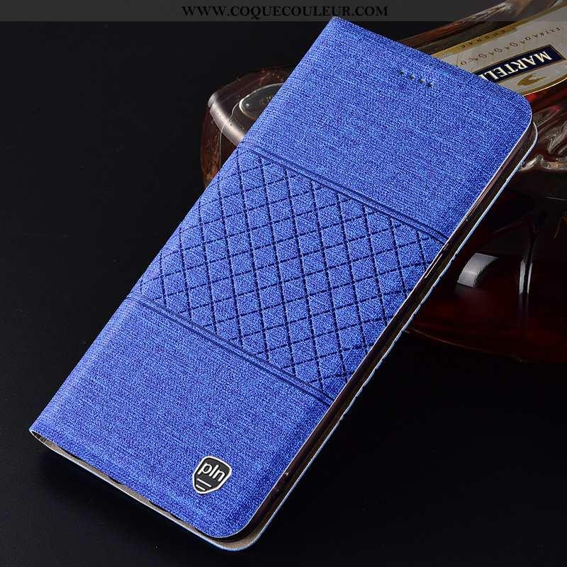 Étui Huawei P Smart Protection 2020 Téléphone Portable, Coque Huawei P Smart Cuir Bleu