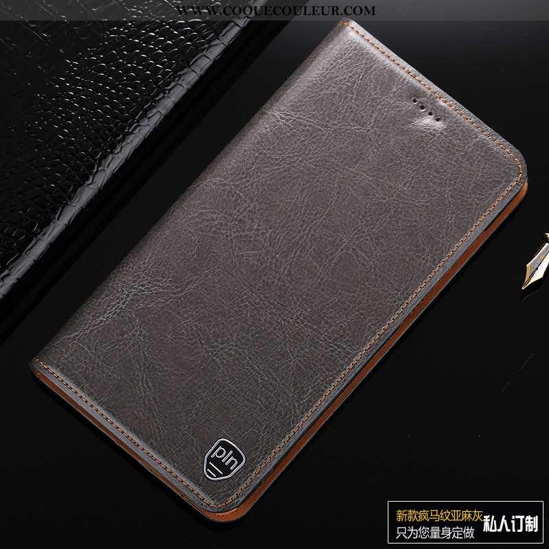 Coque Huawei P Smart Cuir Véritable Protection Téléphone Portable, Housse Huawei P Smart Cuir Tout C