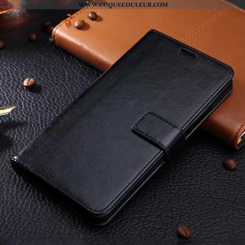 Coque Huawei P Smart Cuir Étui, Housse Huawei P Smart Protection Noir