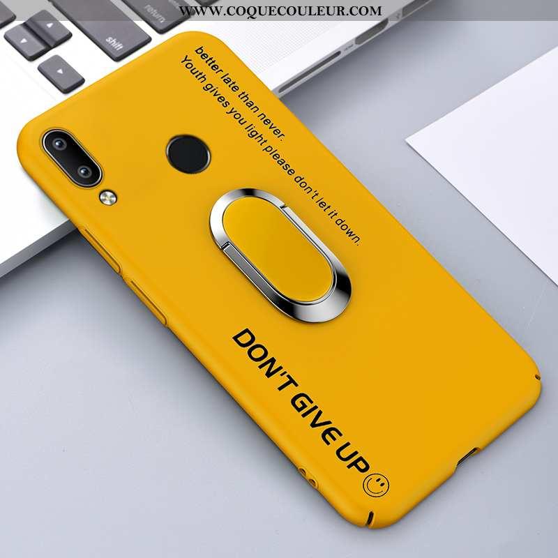 Étui Huawei P Smart+ Créatif Protection Délavé En Daim, Coque Huawei P Smart+ Tendance Jaune