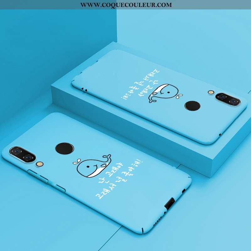 Housse Huawei P Smart+ Protection Luxe Créatif, Étui Huawei P Smart+ Personnalité Tout Compris Bleu