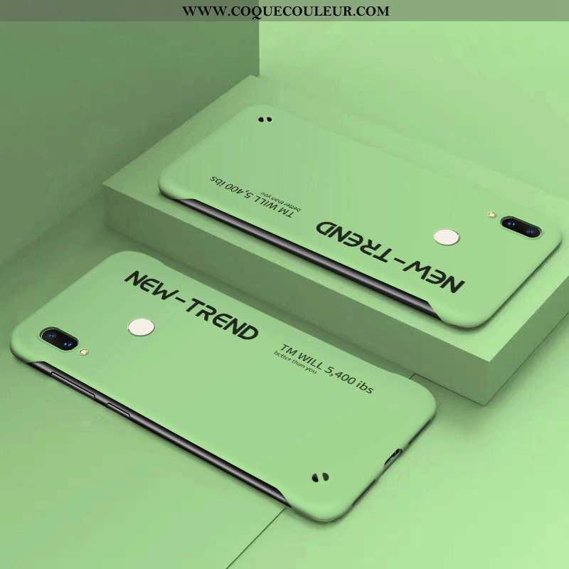 Coque Huawei P Smart+ Ultra Personnalité Délavé En Daim, Housse Huawei P Smart+ Tendance Vent Verte
