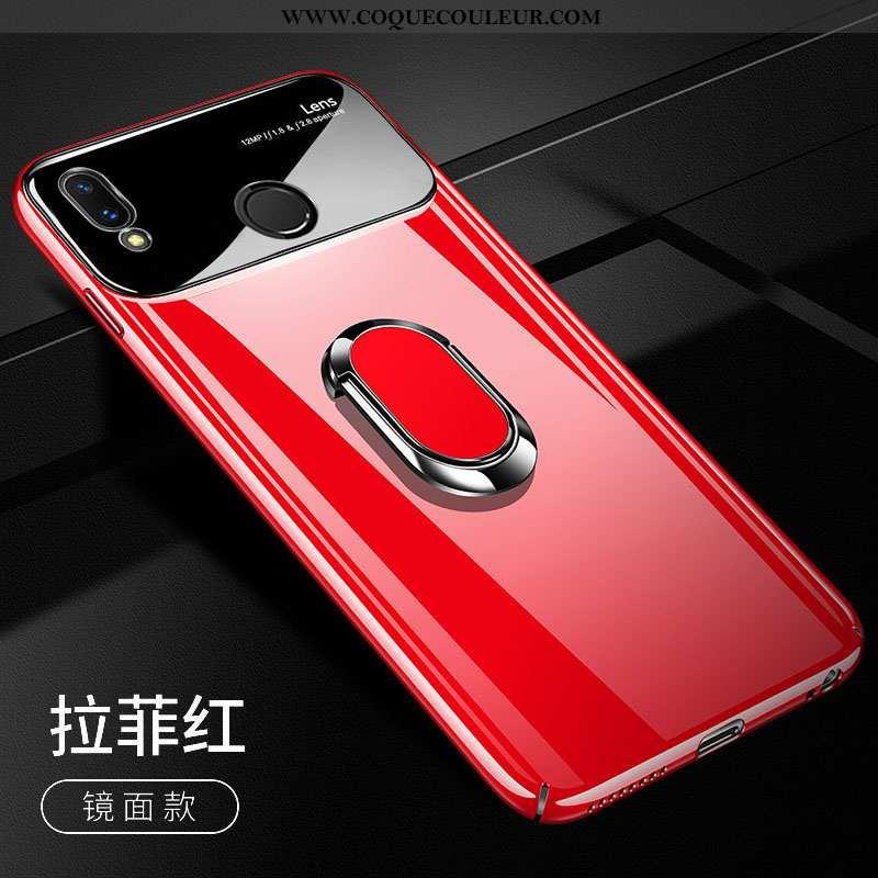 Étui Huawei P Smart+ Légère Cool Difficile, Coque Huawei P Smart+ Protection Tendance Rouge