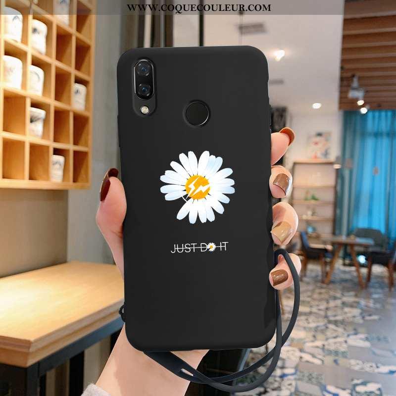 Housse Huawei P Smart+ Tendance Incassable Net Rouge, Étui Huawei P Smart+ Légère Dragon Noir
