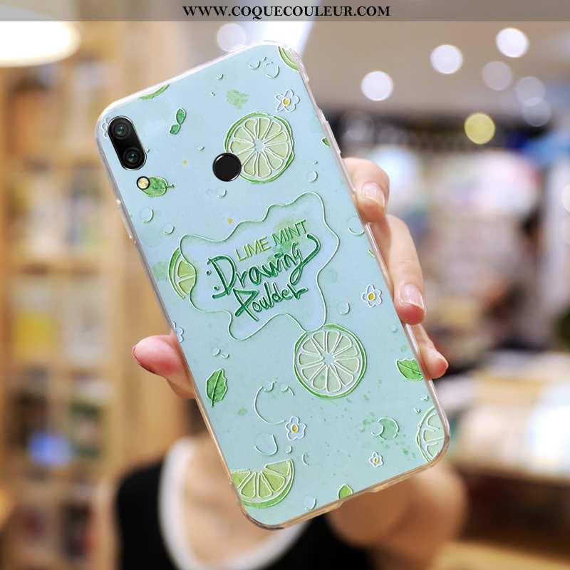 Étui Huawei P Smart+ Créatif Coque Étui, Huawei P Smart+ Charmant Tout Compris Verte
