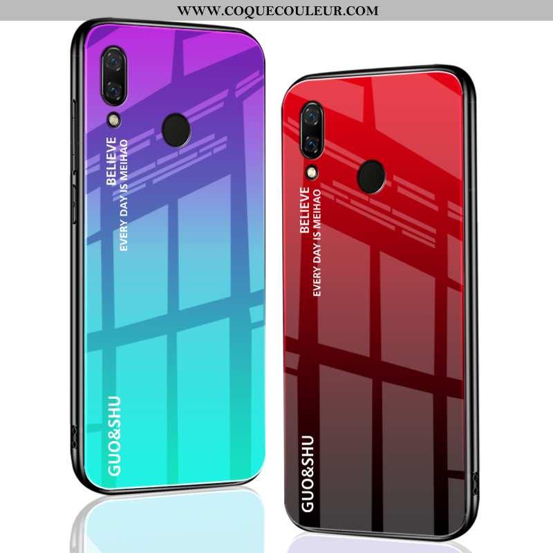 Housse Huawei P Smart+ Délavé En Daim Téléphone Portable Créatif, Étui Huawei P Smart+ Personnalité
