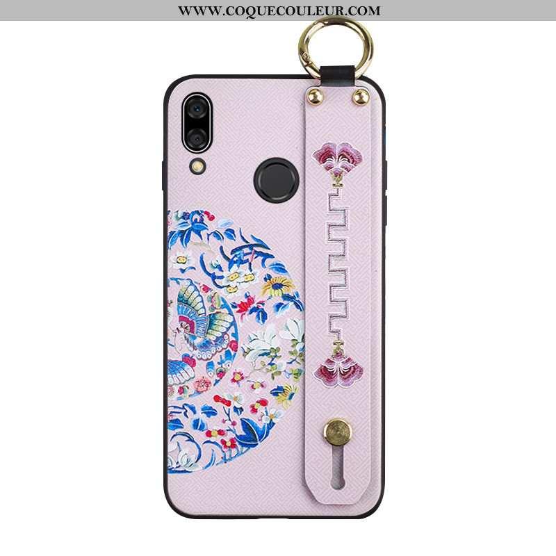 Étui Huawei P Smart+ Gaufrage Téléphone Portable Protection, Coque Huawei P Smart+ Tendance Fluide D