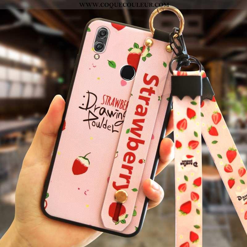 Étui Huawei P Smart+ Tendance Coque Rose, Huawei P Smart+ Silicone Mode Rose