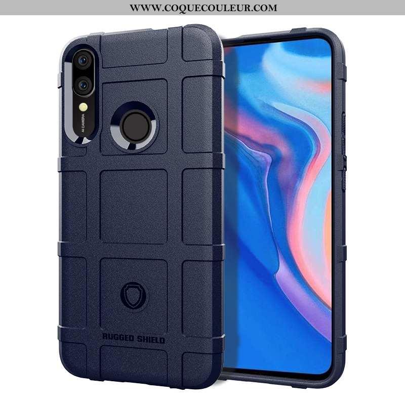 Housse Huawei P Smart Z Étui Téléphone Portable Bleu Marin, Huawei P Smart Z Coque Bleu Foncé