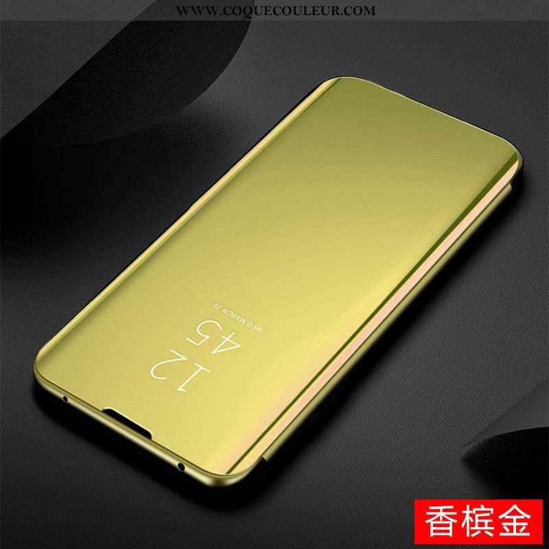 Coque Huawei P Smart Z Transparent Téléphone Portable Miroir, Housse Huawei P Smart Z 2020 Doré