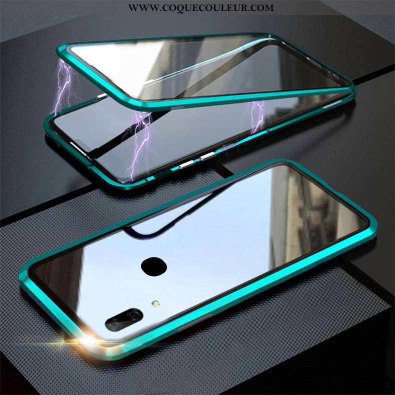 Housse Huawei P Smart Z Verre Vert Coque, Étui Huawei P Smart Z Reversible Téléphone Portable Turquo