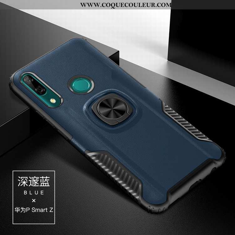 Étui Huawei P Smart Z Silicone Bleu Marin Incassable, Coque Huawei P Smart Z Difficile Bleu Foncé